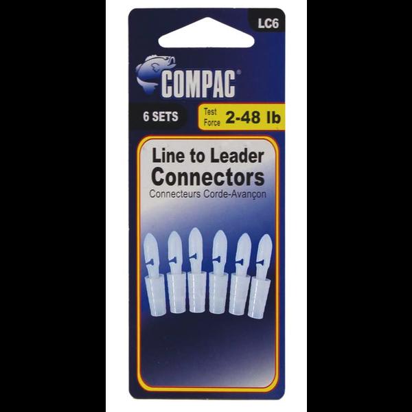 Compac Line to Leader Connectors. 6-pk
