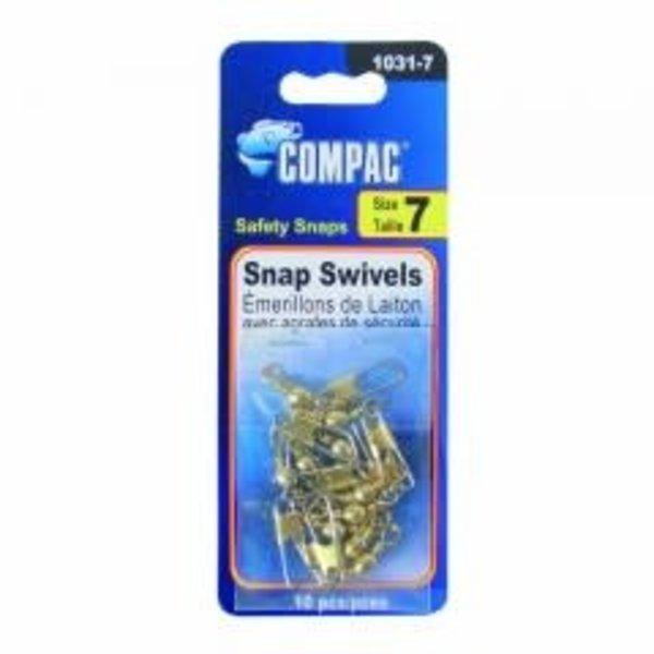 Compac Barrel Swivel w/Safety Snap Size 14 10-pk