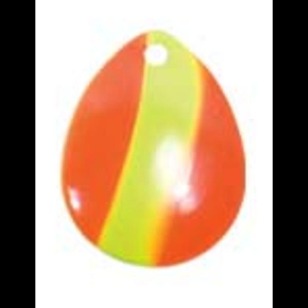 Compac Jaws Walleye Rig. Chartreuse Orange Stripe 18lb (Black Dots)
