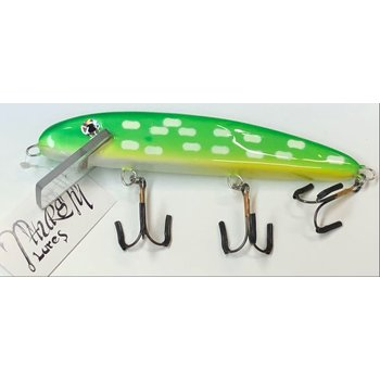 "Thursty Lures 9"" Solid Lime Green Pike"