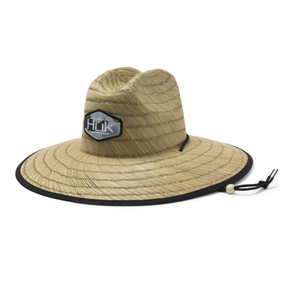 Huk Camo Patch Straw Hat. Tie Dye Fusion Coral