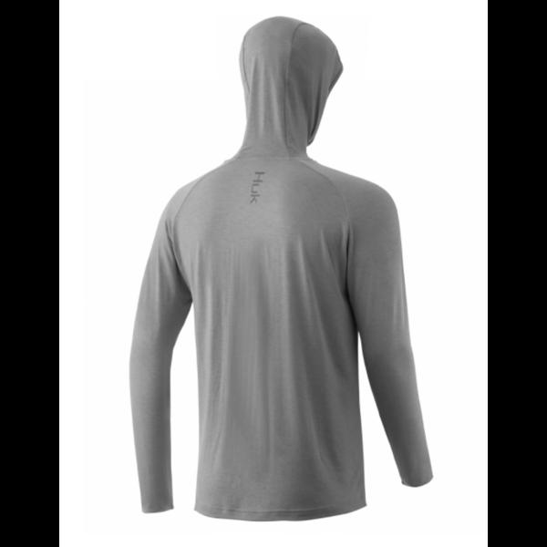 Huk Waypoint Hoodie XL. Grey