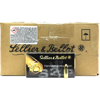 Sellier & Bellot Ammo, 9mm Luger 115gr FMJ (1000/Case)