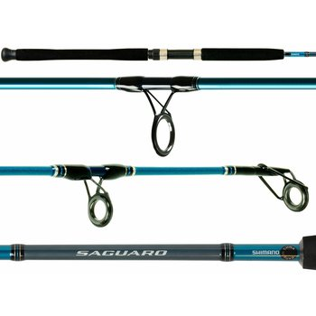Shimano Saguaro 9'Med-Hvy Fast Spinning Rod. 2-pc 20-30lb Mono 20-50lb PowerPro
