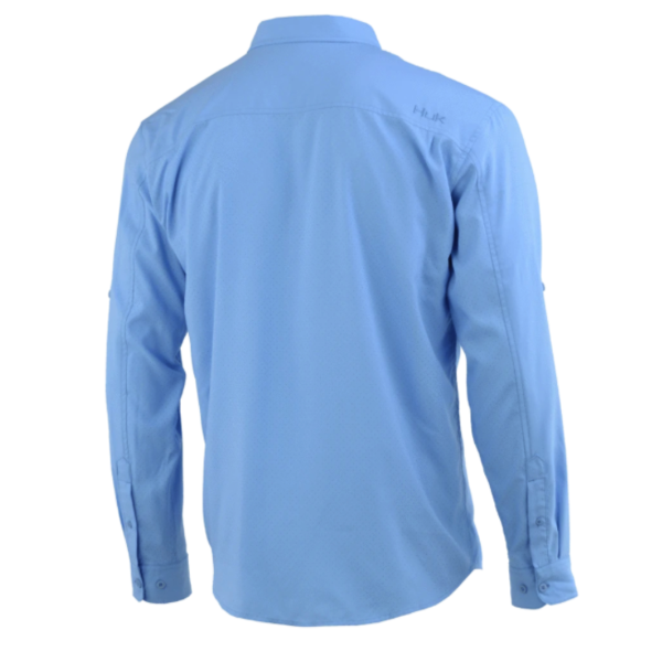 Huk Tide Point Woven Solid Long Sleeve. XXL Carolina Blue