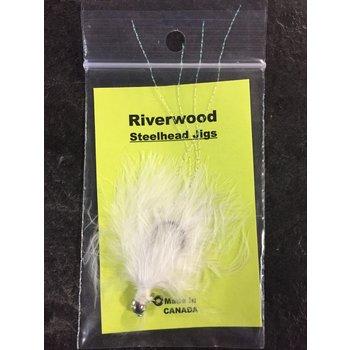 Riverwood Riverwood Steelhead Jig White/Krystal Flash