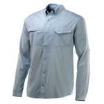 Huk Tide Point Woven Solid Long Sleeve. M Plein Air