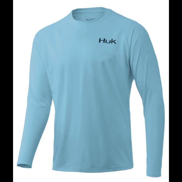 Huk 'd Up Pursuit Long Sleeve L. Ice Blue