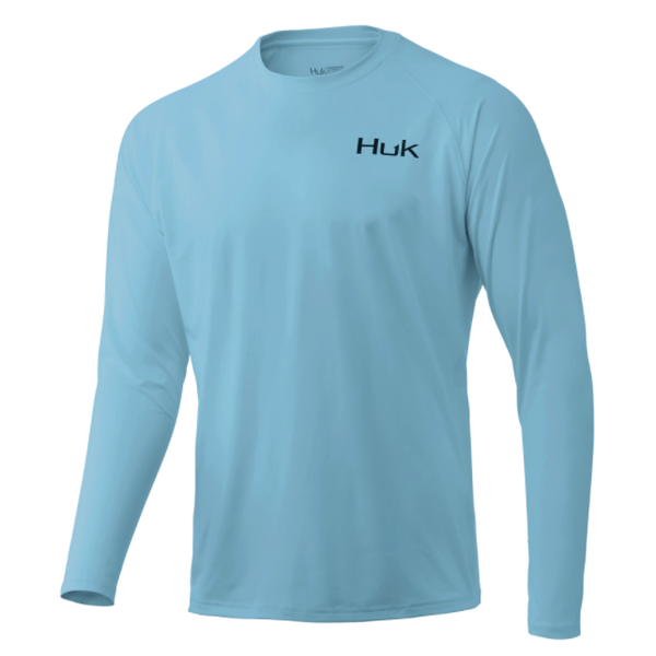 Huk 'd Up Pursuit Long Sleeve M. Ice Blue