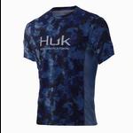 Huk Icon X KC Refraction Camo San Sal Short Sleeve L.