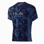 Huk Icon X KC Refraction Camo San Sal Short Sleeve XL.