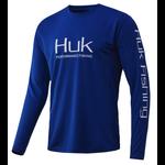 Huk Icon X Long Sleeve. Huk Blue XL