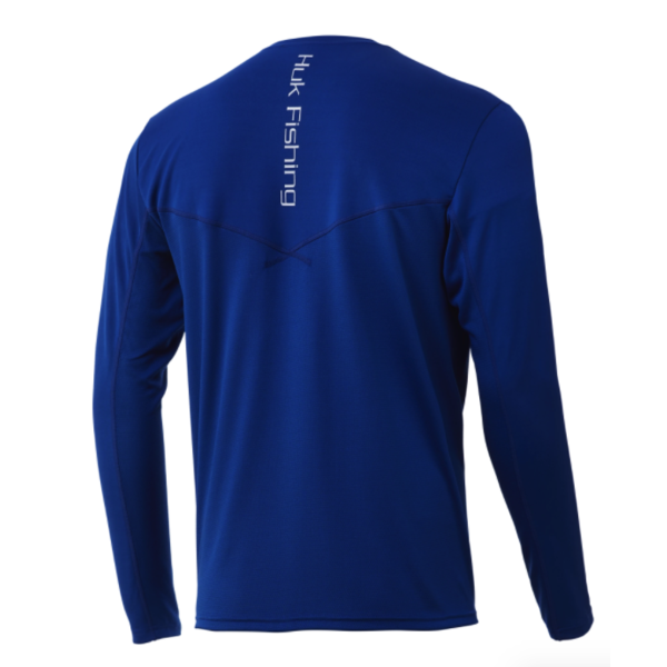 Huk Icon X Long Sleeve. Huk Blue M