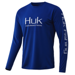 Huk Icon X Long Sleeve. Huk Blue XXL