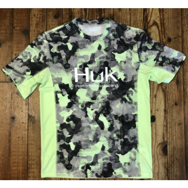Huk Icon X KC Refraction Camo SS Short Sleeve L New Superior