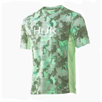 Huk Icon X KC Refraction Camo SS Short Sleeve XL New Superior