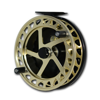 "Raven XL Helix Centrepin Float Reel 5"" Gold/Black"