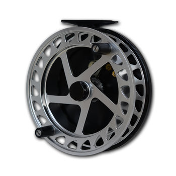 "Raven XL Helix Centrepin Float Reel 5"" Silver/Black"