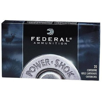 Federal Power-Shok Rifle Ammo 270 Win Soft Point 130gr 3060fps 20 Rounds
