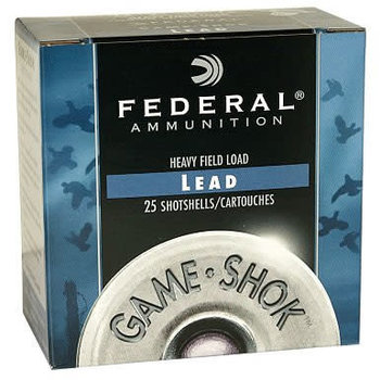 "Federal Premium Game-Shok Heavy Field Shotshells H1254, 12 Gauge, 2-3/4"", 1-1/4 oz, 1220 fps, #4 Lead Shot, 25 Rds/Bx"