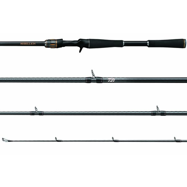 Daiwa Rebellion 7'6H Casting Rod. 5/16-1 1/4oz 10-20lb
