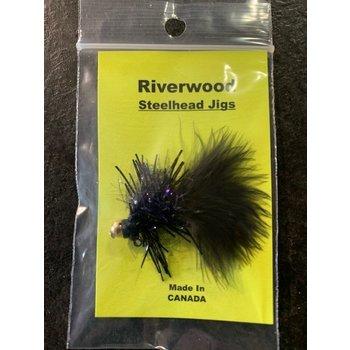 Riverwood Small Tarantula Steelhead Jig Black