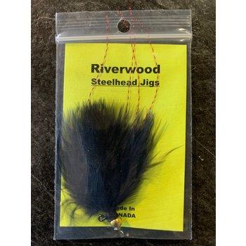 Riverwood Riverwood Steelhead Jig Mini Black/Krystal Flash