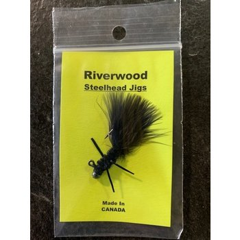 Riverwood Riverwood Steelhead Jig Mini Black Chenille/Marabou with Legs
