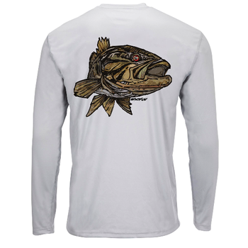 Simms Solar Tech Tee LS Smallie Sterling. L