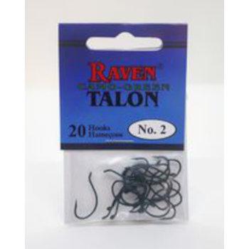 Raven Talon Camo-Green Hooks. Size 2