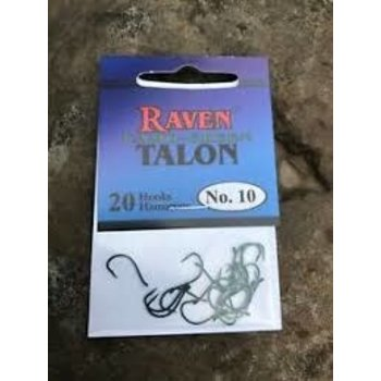 Raven Talon Camo-Green Hooks. Size 10