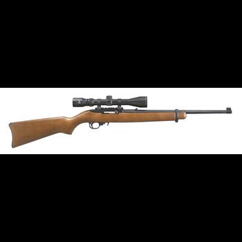 "Ruger 31159 10/22 Semi-Auto Rifle, 22 LR, 18.5"" bbl, Blued, Wood Stock, Viridian EON 3-9x40 Scope, Hard Case, 10+1 Rnd"