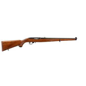 Ruger 1265 10/22 Rifle 22LR 18.5″ 10+1 Mannlicher Walnut Stock-Blued
