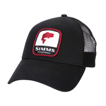 Simms Bass Patch Trucker. Black