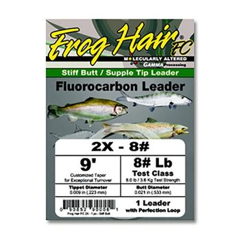 Gamma Frog Hair Fluorocarbon Leader 1X 9' 10.0lb