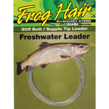 Gamma Frog Hair Tapered Leader 5X 9.5' 4.4lb