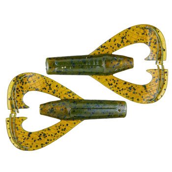 "Googan Baits Rattlin Chunk Craw 3"" Green Pumpkin 7-pk"