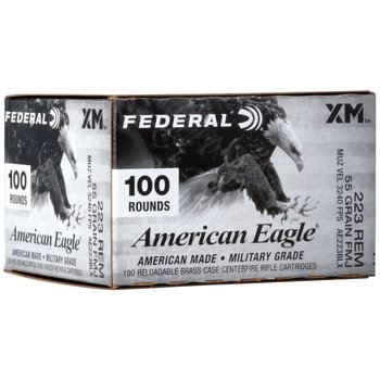 Federal AE223BLX American Eagle 223 Rem 55 gr Full Metal Jacket Boat Tail (FMJBT) 100 Bx