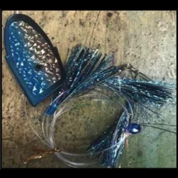 Ito Flies Meat Rig. Black N Blue Grandma 17-97-2