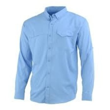 Huk Tide Point Solid LS L Carolina Blue