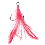 Mustad Feathered Treble Size 6 Red 2-pk