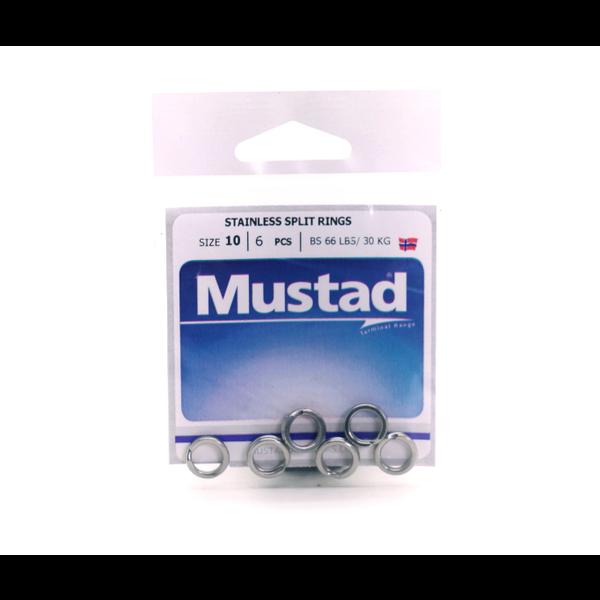Mustad Stainless Split Rings Size 4.8 10-pk