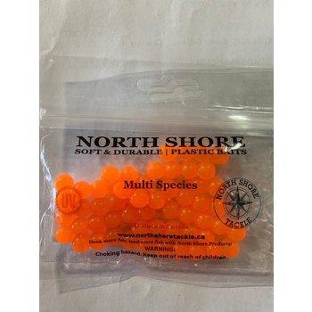 North Shore North Shore Tackle Soft Bead 10mm Neon Orange