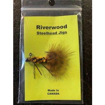 Riverwood Riverwood Steelhead Jig Mini Tiger Chenille/Marabou with Legs