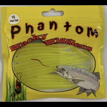 Phantom Wacky Wigglers. Flat Tail Chartreuse