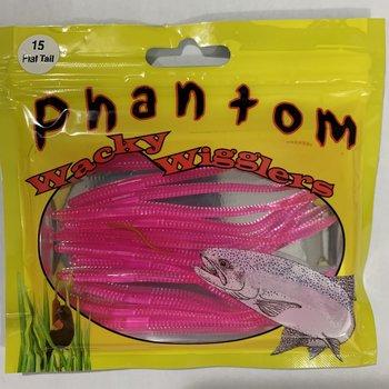 Phantom Wacky Wigglers. Flat Tail Hot Pink