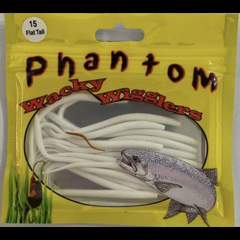 Phantom Wacky Wigglers. Flat Tail White