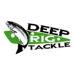 Deep Rig Tackle Artificial Herring Mag Chartreuse/Black Dots