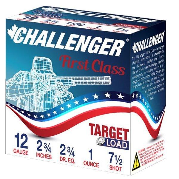 Challenger 12ga 2 3/4dr. 1oz. #7.5 Target Load Ammunition 250 Rounds