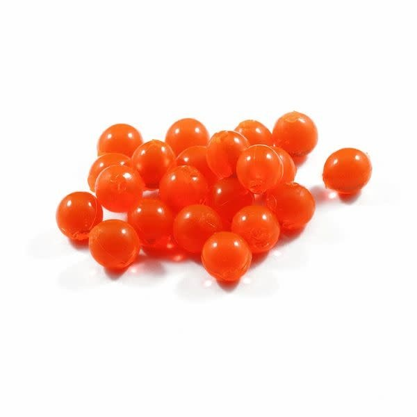 Cleardrift Tackle Solid Soft Bead 8mm Deep Orange 30-pk